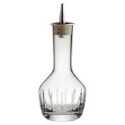 Bitters Bottle Vertical Cut 9cl - Handmade Glass Bitters Bottle with Stainless Steel Dash Dripper