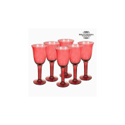 Recycled Wine Glasses (6 pcs) 350 ml Burgundy - Crystal Colours Kitchen Collection by Bravissima Kitchen