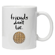 Stranger Things Inspired - Friends Don't Lie - Christmas White Tea Coffee Mug 330ml Ceramic Coffee Tea Mug - Perfect Valentines/Easter/Summer/Christmas/Birthday/Anniversary Gift