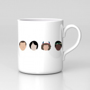 Stranger Things Faces Minimal Graphic Eleven Mike Dustin Mug Home Coffee Tea