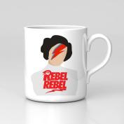 Rebel Rebel Princess Leia Carrie Fisher Tribute Mug Home Coffee Tea