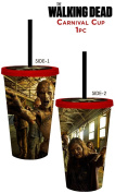 530ml AMC's OFFICIAL The Walking Dead Biters Creepers Walkers and Zombies PREMIUM Tumbler Travel Cup Screw-On Lid with Acrylic Straw