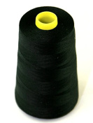 Budget 120's Polyester Sewing Thread Cone 4500m Black - each