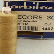 Sewing Thread Beige Light Beige Thickness 30 300 m Polyester Trecore Forbitex