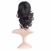 MZP Black Medium Curly Claw Ponytail Hair Extensions Clip in Synthetic Hair Extension Ponytail , black