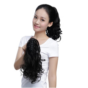 """Remeehi Human Hair Beauty 13.8""""(35cm) Long Big Wavy Claw Curly Ponytail 80g Clip in Hair Extensions Hairpiece Light Brown"""