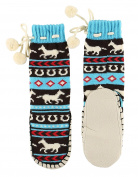 LazyOne Unisex Kids Horse Fair Isle Mukluk Slippers UK 11-13 EU 31-33 US 12-1