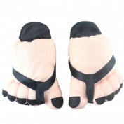 Zerci New Winter Five Fingers Pattern Toes Home Warm Cartoon Cotton Slippers