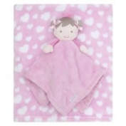 Beautiful Soft Pink For Baby/Children's Blanket with Small Toy Doll