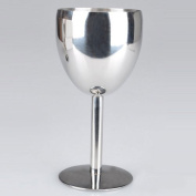 AsentechUK® 1PCS 180ml Stainless Steel Wine Glass Drinking Cup Champagne Goblet Barware Kitchen Tools Party Restaurant Supplies