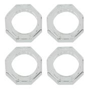 SARO LIFESTYLE Octagonal Shape Glass Crystal Napkin Ring