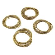 SARO LIFESTYLE Gold Shimmer Bangle Design Metal Napkin Ring, Bronze