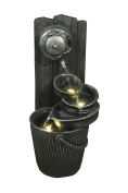 Hollyberry Home Hose and Pan Water Cascade, Metal, Multicolour, 43.5 x 86.5 x 45 cm
