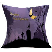 YanHoo Halloween Pillow Case Sofa Waist Throw Cushion Cover Home Decor