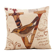 YanHoo Halloween LOVE Bird Square Pillow Cover Cushion Case Pillowcase Zipper Closure