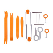 HDE 12 pcs No Scratch Vehicle Stereo Radio Removal/Installation Tool Kit