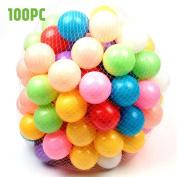 ELENKER 100PC Baby Kid Fun Swim Pit Toy Swim Colourful Children Soft Plastic Ocean Ball
