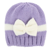 Bodhi2000® Newborn Baby Boy Girl Bowknot Beanie Cap Winter Warm Knitted Hat Photography Props