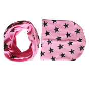 Bodhi2000® Baby Cute Stars Pattern Beanie Hat Cap with Circle Scarf Set