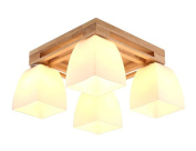 Home mall- LED Solid Wood Ceiling Lamp Modern Fashion Living Room Bedroom Kitchen Children's Room Light E27