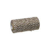 creafirm – Baker's Twine 100 m Spool String Style Brown and White