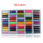 50 Colours 150 Yard Roll Polyester Sewing Thread Box Kit Set For DIY Home Hand Use and Sewing Machine Stitch Line