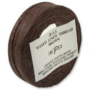 Impex Waxed Linen Thread 23m Brown - per 23 metre roll