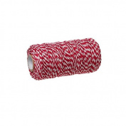 creafirm – Baker's Twine 100 m Spool String Style Red and White