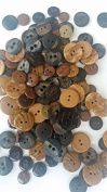 KosiKrafts 1 BAG 200g Art & Craft Play, Sewing Buttons,Assorted Browns, Different Sizes.