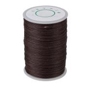 Brown 100 Metre 0.6mm Dia Leather Sewing DIY Handwork Handicraft Round Linen Stitching Waxed Thread Cord