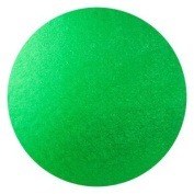 "Round Cake Drum 8"" Diameter 12mm thick green embossed foil wrapped drum"