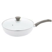 BALLARINI 75001-596 Tropea Veggie Aluminium Ceramic Nonstick Saute Pan with Lid, NA, 3.8l