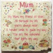 Natural Marble Coaster - Mum