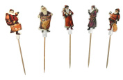 Party – Cocktail Sticks/Toothpicks with Decorative Father Christmas (5 Designs/11 cm – Pack of 50) Christmas – Highlight