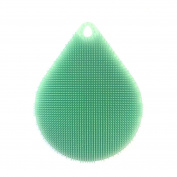 Prevently Brand Young Bright Colour 1pcs Creative Drop Shape Silicone Dish Washing Sponge Scrubber Kitchen Cleaning Antibacterial Tool