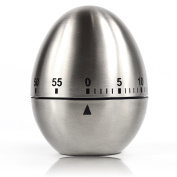 BlueBeach® Mechanical Stainless Steel Egg Shape Kitchen Timer for Cooking / Baking / Wakening / Countdown