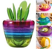 Kingwin Creative Multifunction Flower Pot Shape Manual Fruit Cutter Juicer Kitchen Gadgets