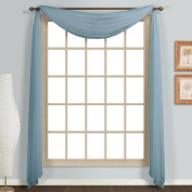 United Curtain Monte Carlo Window Curtain Scarf, Slate Blue, 150cm x 550cm