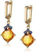 Fiorelli Gold Yellow Gold Citrine and Sapphire Earrings