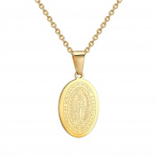 Lady Virgin Mary Necklace Collares Gold / Platinum Plated Women Men Jewellery Jesus Piece
