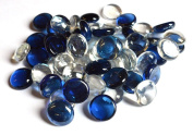 STONED® 100 Approx. Round Decorative Glass Pebbles / Stones / Beads / Nuggets 17 -20 mm