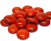 STONED® 100 Approx. Round Decorative Glass Pebbles / Stones / Beads / Nuggets 17 -20 mm -