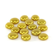 100 Coated Gold Glass Pebbles - Wedding - Events - 18 - 20 mm