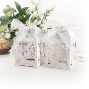 Anladia Mr & Mrs Groom Bride Design Hollow Laser Cut Wedding Sweets Wedding Favour Candy...