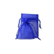 100 Royal Blue Organza Wedding Favour Bags Jewellery Pouches 9cm x 12cm without free gifts by W.Air