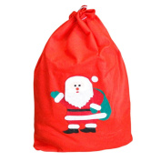 Ouneed Christmas Large Canvas Music Forest Stocking Gift Storage Bag