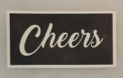 12 x Cheers word stencils for etching on glass hobby craft glassware