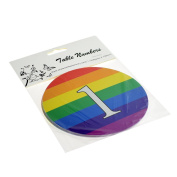 Rainbow Round Design Table Numbers for Holders (1-12) - XTNRB1