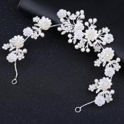 MDRW-Bride Wedding Prom Hair Pins The New Tiaras Hair Headdress Diamond Pearl Card Nflowers Headdress Jewellery