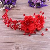 MDRW-Bride Wedding Prom Hair Pins Theheaddress Red Flowers Flower Handmadecheongsam Dress Headdress Hair Accessories